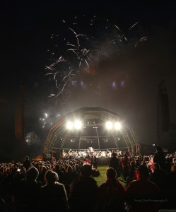night time stage and fireworks